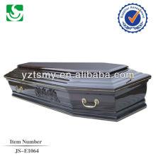 venda direta estilo europeu cinzas madeira adulto caixão feito em China