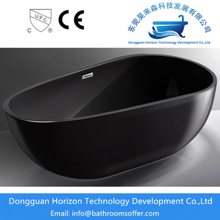 All Black Acrylic Bathtub