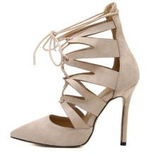 Новый высокий каблук женская обувь острым высокая пятки обувь