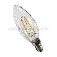Bulbo do filamento do diodo emissor de luz da decoração da vela C35 1.5W Dimmable
