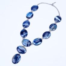 Ожерелье из тяжелого агата с бисером