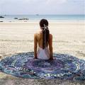 toalha de praia de algodão jacquard círculo melancia