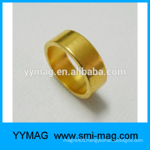 Hot sale permanent neodymium gold ring magnet
