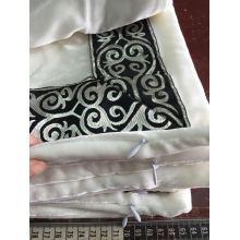 Funda de almohada de terciopelo de seda clásica con cinta