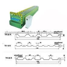 Máquina de formação de rolo de perfil de telhado de metal TR18 / TR35 / TR50