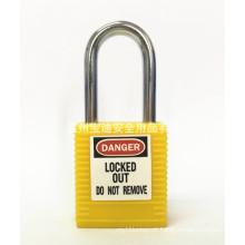 BAODI BDS-S8601 Fechamento de segurança em forma de amarelo B Cadeado de aço