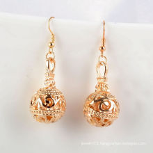 Fashion Jewelry/Jewelry Earrings/Metal Flower Ball with Hook Earring (XJW1650)
