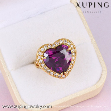 10838-Xuping Anniversary Gift Romantic Heart Shape Sweet Rings With Diamond
