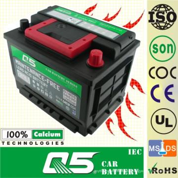 DIN-56077 12V60AH Batería Mf sin mantenimiento
