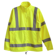 Reflective Strip Polar Fleece High Visibility Safety Overcoat (YKY2807)