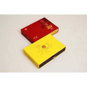 Luxus-kundenspezifische gleitende steife Papierpappgeschenkbox mit Schaum-Einsatz