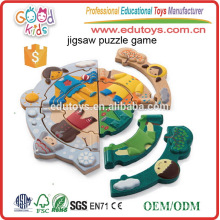 Personalizar Vestido de madera Juguetes de juguete juego Jigsaw Puzzle Set