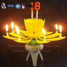 Color Box Packing Music Flower Candles with Number