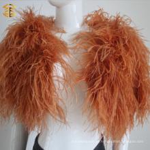 Mais cores de avestruz real em penas de peles, capote, robô, estola, xale para mulheres