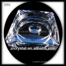 Cenicero de cristal blanco K9