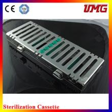 Cassette stérilisateur dentaire inoxydable / boîte à instruments dentaires