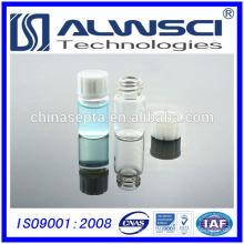 2014 7ML frasco de almacenamiento transparente con negro cerrado plástico 24-400 Cap
