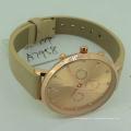 Concevez votre propre montre en cuir de couple chinois de logo avec l'alliage