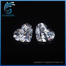 Vente chaude bas prix 5X5mm coeur forme résistant à la chaleur CZ Stoens Cubic Zirconia