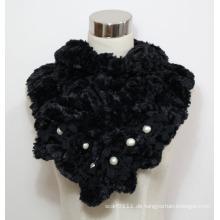 Lady Faux Fur Fashion Schal mit Perlen (YKY4365A-1)