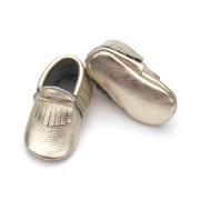 Calidad de cuero genuino Mocasines de bebé zapatos al por mayor