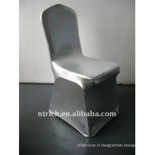 luxe!!! chaise housse en argent, housse de chaise en lycra, brillante