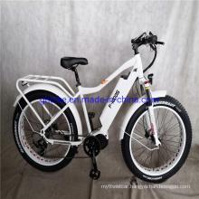 "26"" Suspension 1000W Bafang 48V MID Drive Motor Ebike Fat Tire Electric Bike"
