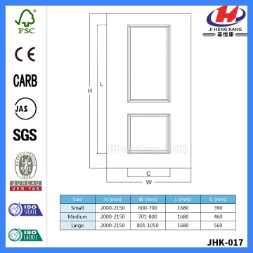 JHK-017 Natural Beech Door Skin 2 Panel Luxury