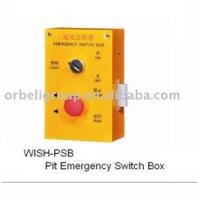 Boîte de commande d'urgence pour fosse d'ascenseur, partie ascenseur