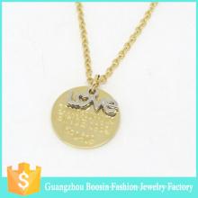 Logo personnalisé gravé Dainty Disc Love Charms pour collier