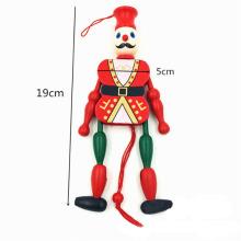 clown en bois tirer jouet vieux poupées