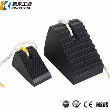 2020 Solid Heavy Duty Trailer/Car/Truck Rubber Wedge Stopper/Wheel Chock with Rope for Parking
