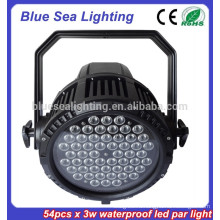 54pcs x 3w ночной клуб свет дискотека оборудование IP65 привело пар свет