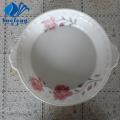 Opalglas drücken Runde Platte mit Griff