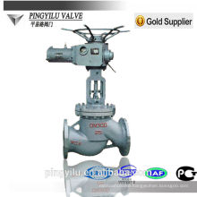 motorized stainless steel cast steel globe valve PN 16-100 manufacturer