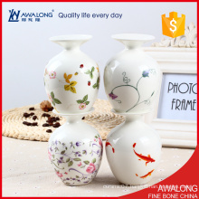 high quality tableware small porcelain vase / pretty table setting room decoration vase