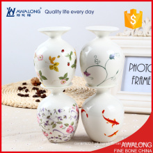 Louça de alta qualidade pequeno vaso de porcelana / mesa bonita decoração de quarto vaso