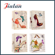 Cheap Customize Logo Printed Classical Lady Design Paper Shopping Bag
