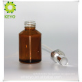 Amber color alcohol frosted glass bottles for cosmetics packaging