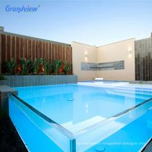 40mm unbreakable plexiglass swimming pool acrylic waterfall