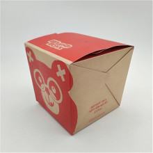 Bercetak 32oz Takeaway Brown Kraft Noodle Box
