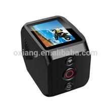 Controle remoto do telefone móvel HD Sports Action 360 Graus Câmera 1440 P / 30fps câmera de vídeo à prova d 'água