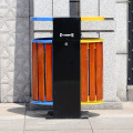 Los compartimientos de basura al aire libre vendedores calientes de la Acero-Madera (B10420)