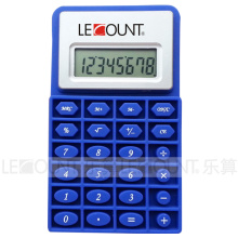8 Digits Silicon Calculator with Magnet and Soft Foldable Body (LC532)