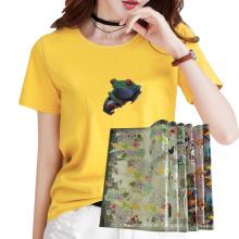 Factory custom Wholesale Plastisol Heat Transfer Printing Vinyl Sticker Label for Clothing  T-shirt