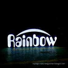 Customized 3d logo frontlit backlit resin letters led sign uv illuminated letter