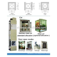 100Kgs elevador de carga, elevador de alimentos elevador dumbwaiter, dumbwaiter eléctrico