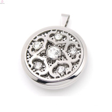 New arrival stainless steel silver vintage design perfume magnetic floating locket pendant jewelry