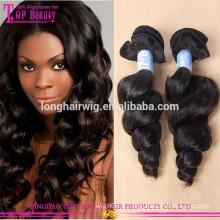 Extensiones al por mayor del cabello humano de la categoría 5a de la fábrica en paquetes comunes vírgenes del pelo chino