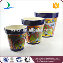 YSfp0007 Set von 3 runden Form Keramik Blumentopf für Balkon